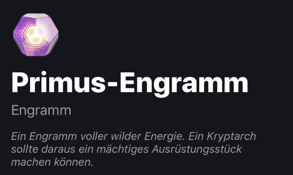 Primus Engramm Gratis