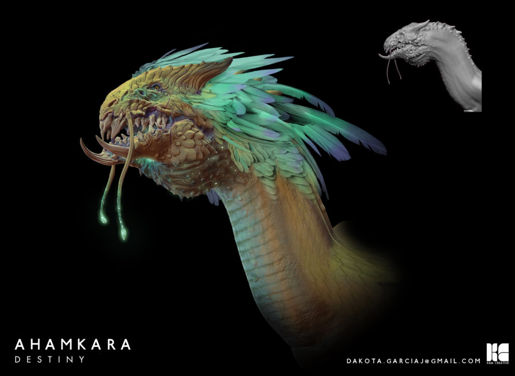 Concept-Fan-Art. die Vorstellung, wie ein ahamkara aussehen könnte.