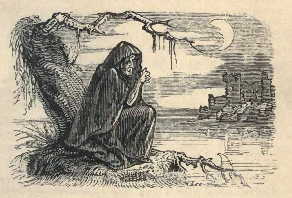Die Bunworth Banshee, Illustration in Thomas Crofton Crokers Fairy Legends and Traditions of the South of Ireland (1825)
