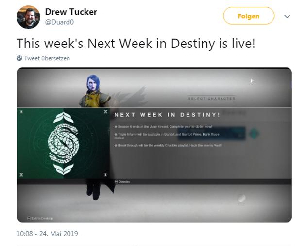 Nächste Woche in Destiny 2, ein Überblick.
