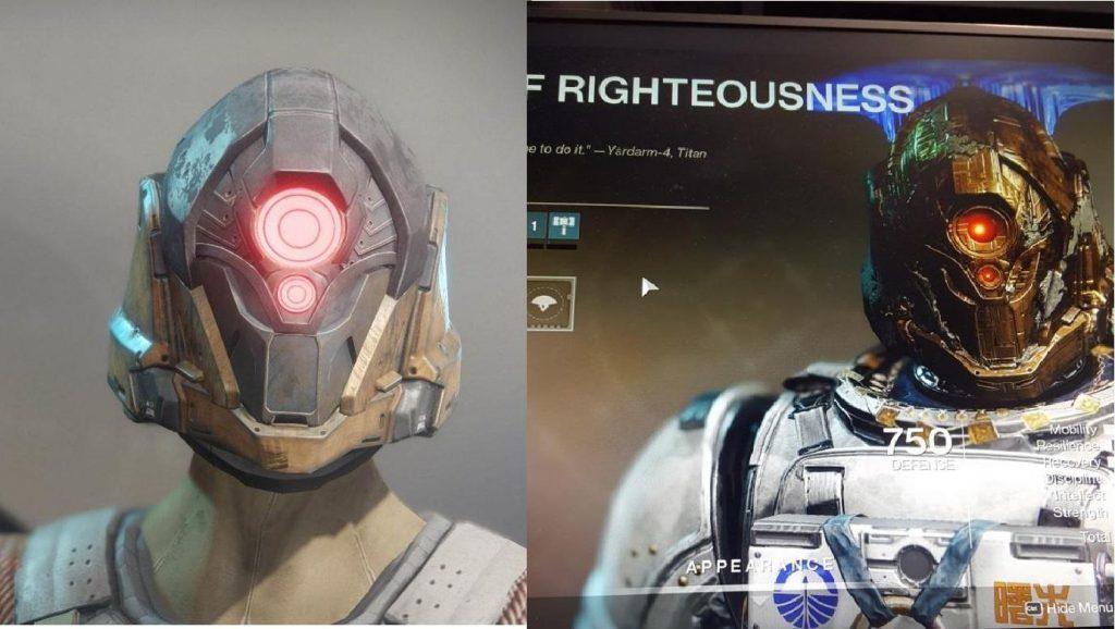 Ein Teil der neuen Raid-Rüstung: Der Titanenhelm.