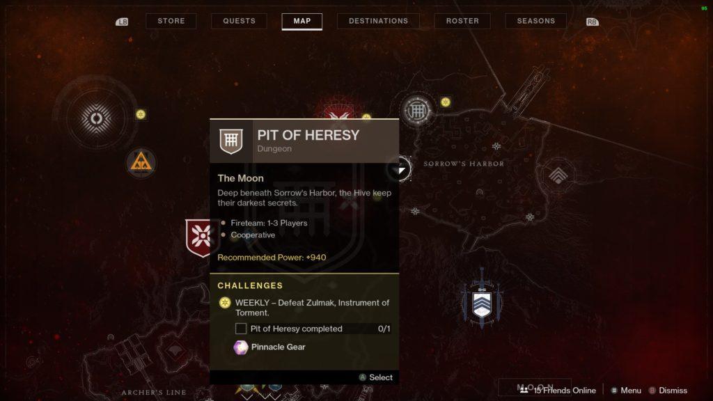 destiny 2 Grube der Ketzerei start