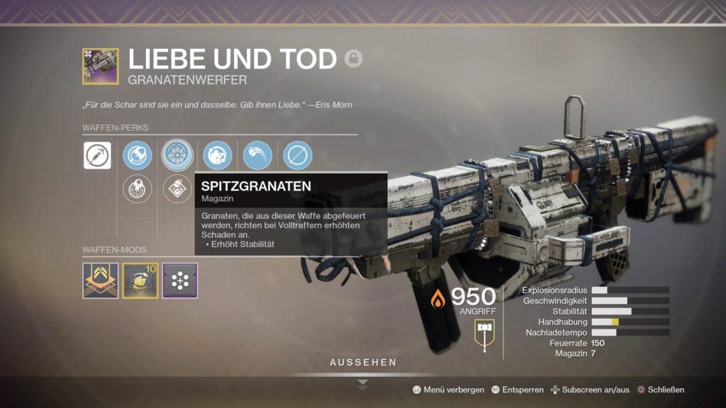 Destiny 2 Granatwerfer God-Roll