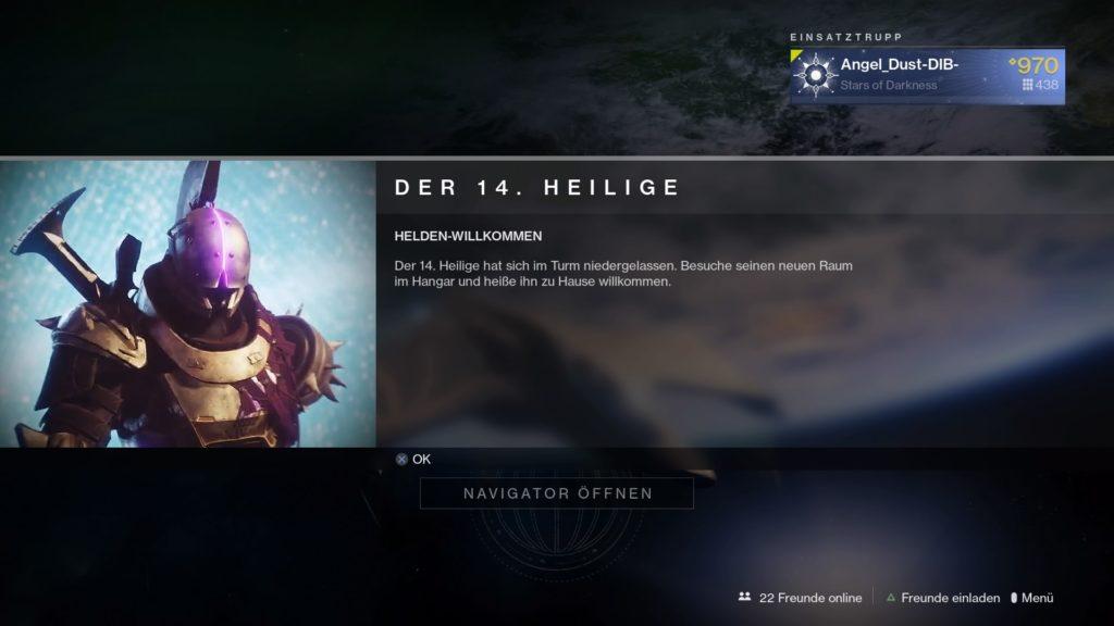 Destiny 2 Der 14. Heilige