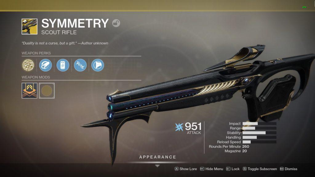 Destiny 2 Exotisches Scountgewehr Symmetrie
