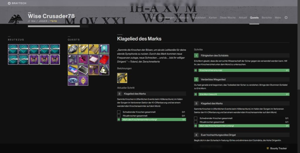 Tracken von Beutezügen kann der Destiny 2 Assistent auch
