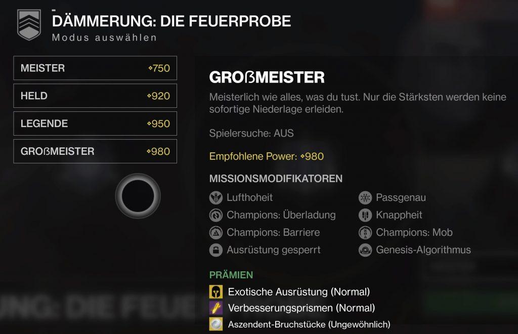Destiny 2 die Feuerprobe