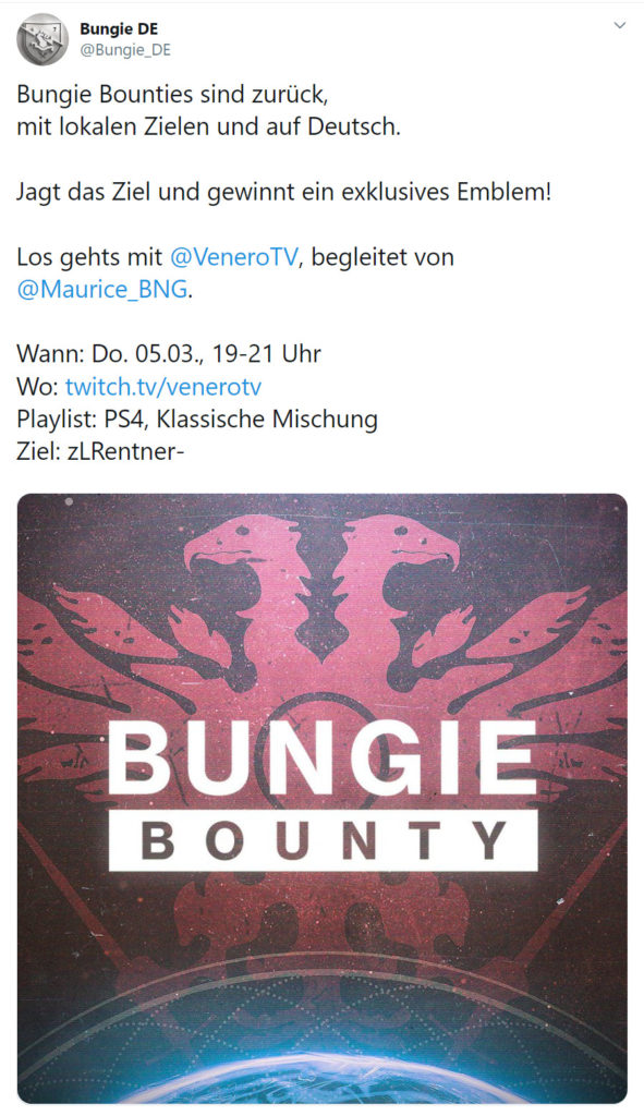 Destiny 2 Bountie