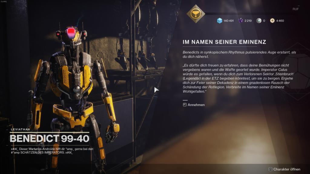 Destiny 2 Benedict