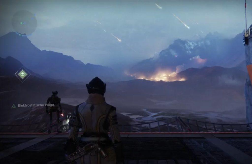 Destiny 2 Das brennende Wrack der Allmacht