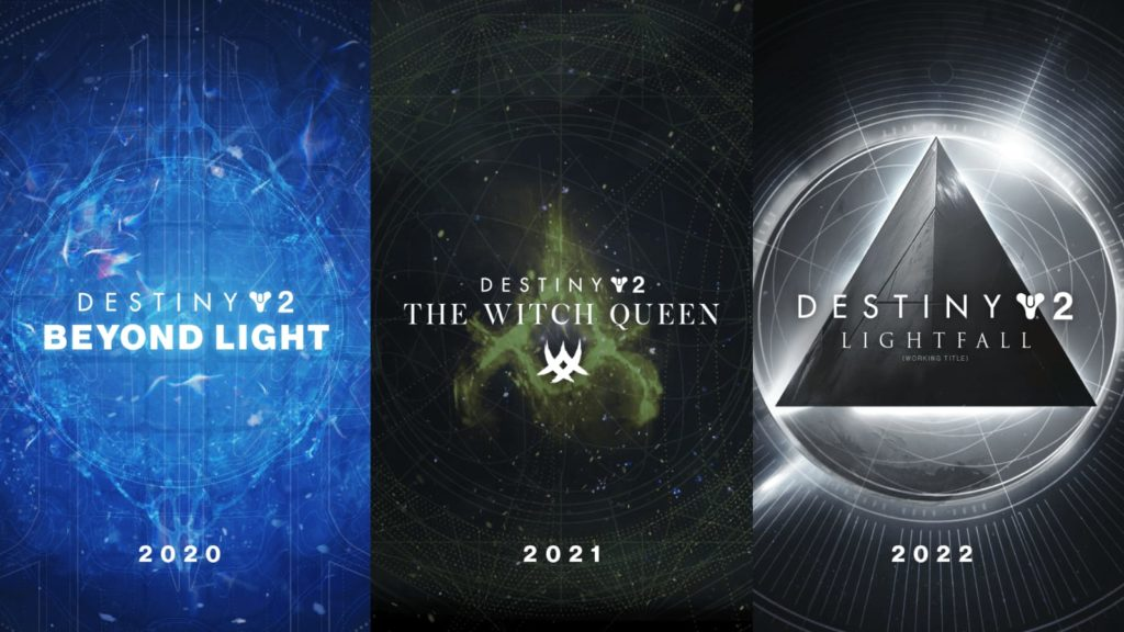DLC - Beyond Light - The Witch Queen - Lightfall - Destiny 2