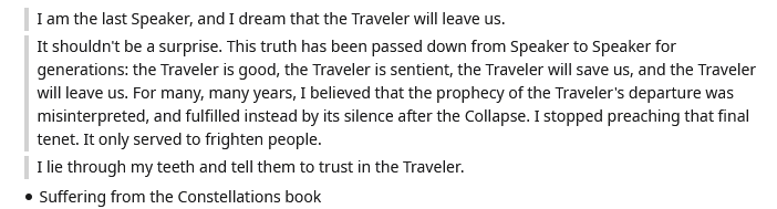 speaker about traveler