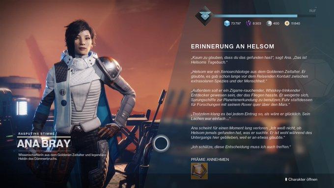 Destiny 2 Ana Bray