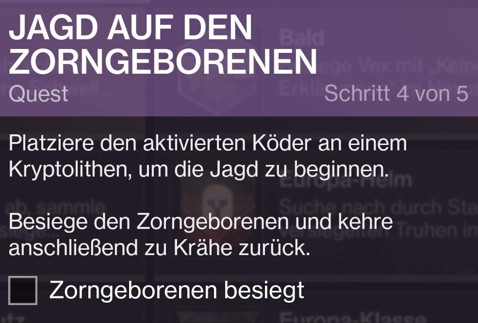 Quest - Krypolithe-Köder