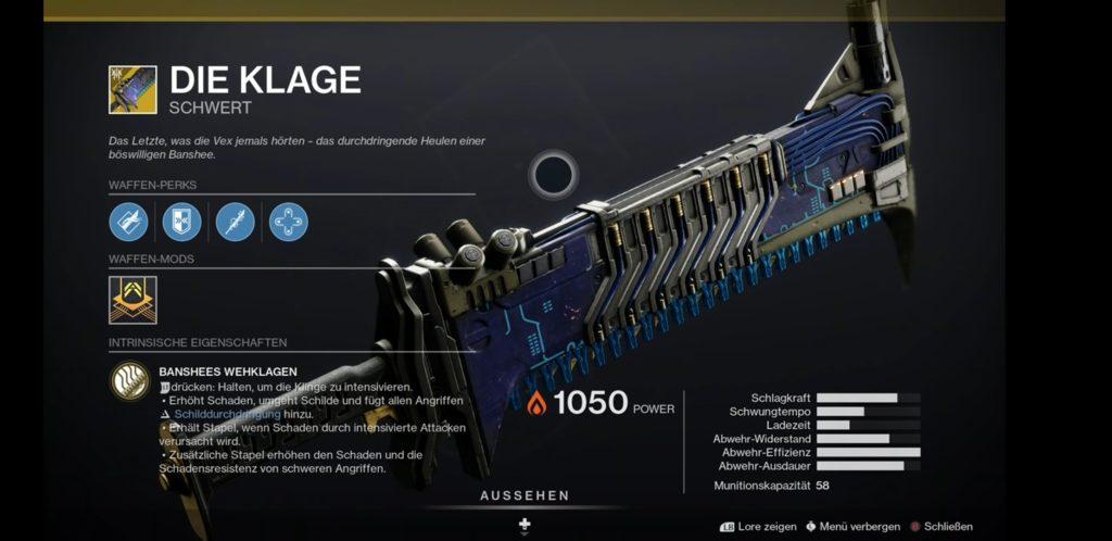 """Das Exotische Schwert ,,Die Klage"""""""