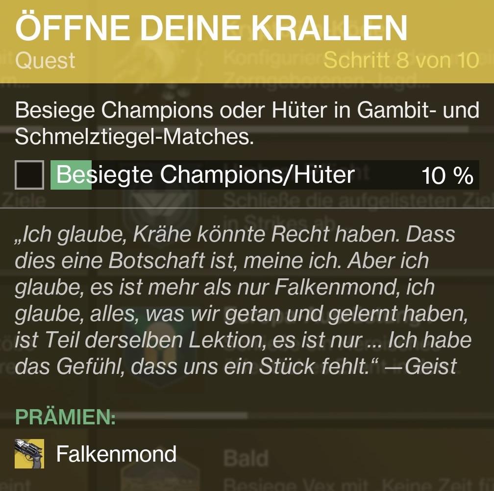 Besiegt Hüter/Champions