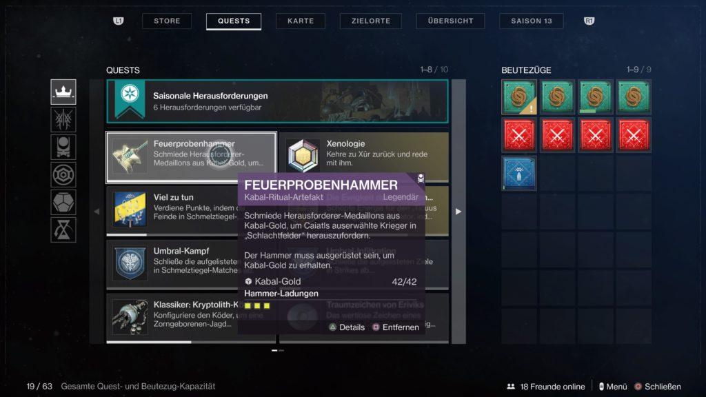 Destiny 2 - Feuerprobenhammer