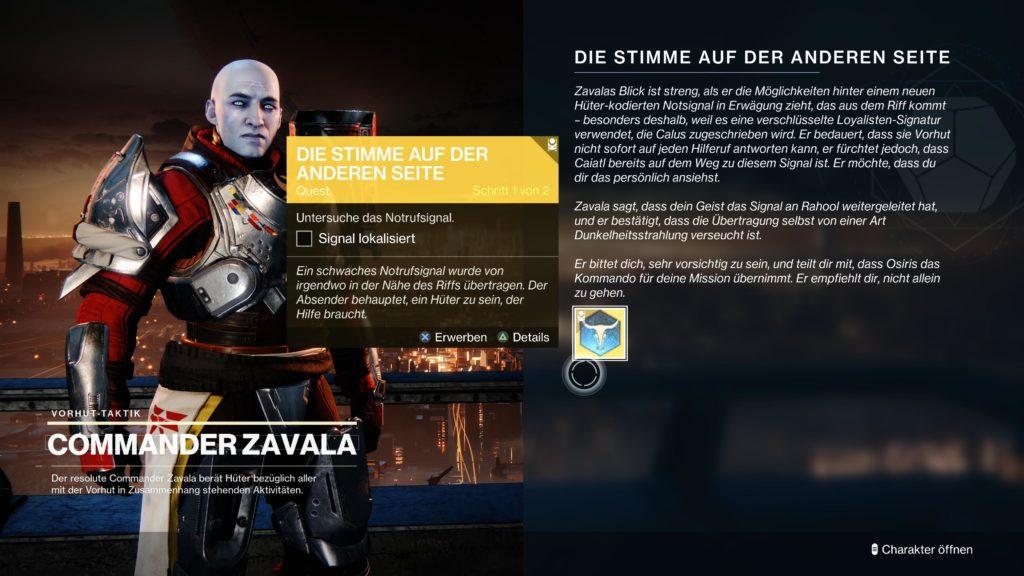 Destiny 2 Vorzeichen