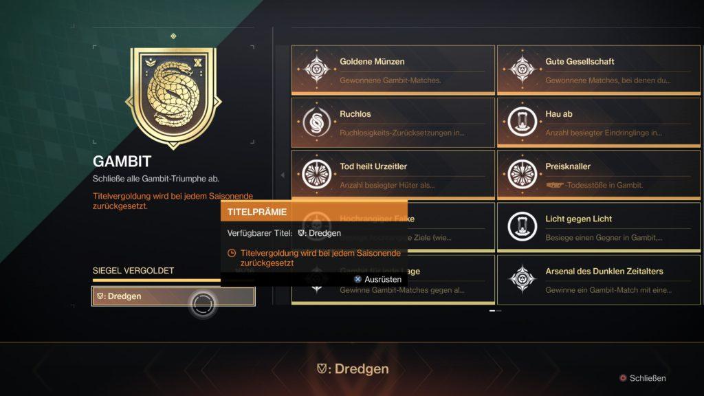 Destiny 2 Spitzenreiter