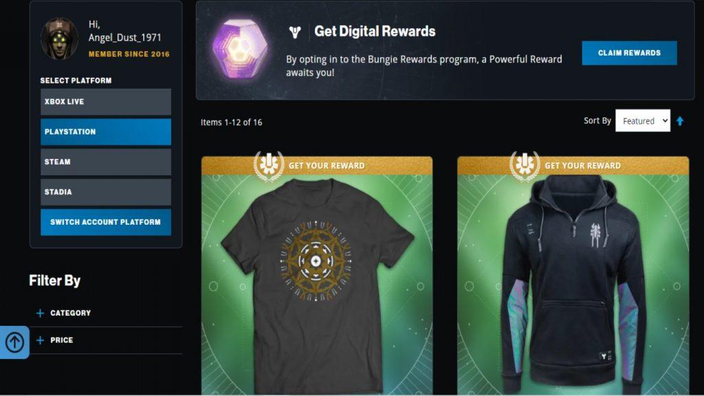 Destiny 2 Store